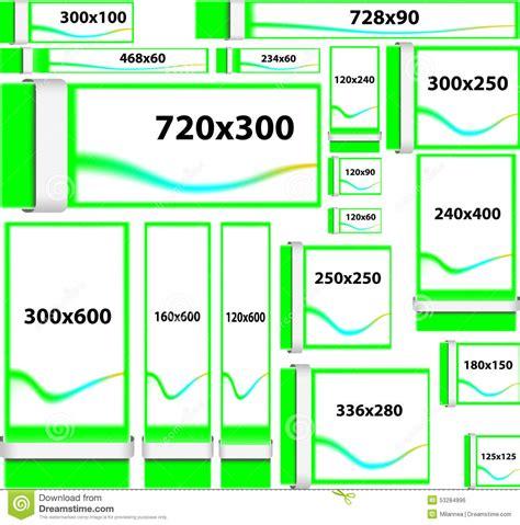 standard l post banner size standard size website banners stock vector illustration
