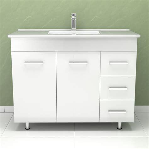 White High Gloss Bathroom Furniture Modern High Gloss White Bathroom Furniture Vanity Storage Unit With Basin Sink Ebay