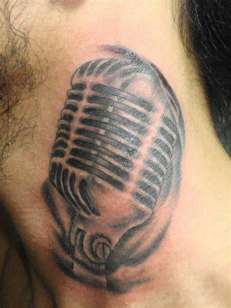 microphone tattoo on neck 70 fantastic neck tattoos