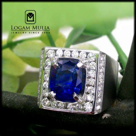 Cincin Mewah Safir Cylon Bertabur Berlian jual cincin berlian pria dg blue sapphire sdmc rc8001058 tltl logammuliajewelry