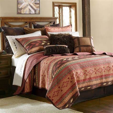 quilt bedding set broken arrow reversible southwest quilt set