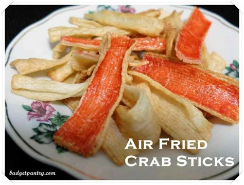 air fried new year snacks air fried crab sticks budgetpantry food cooking