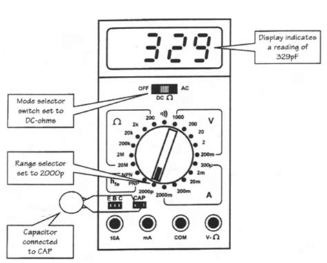 how to check run capacitor with digital multimeter capacitor measurements with digital multimeters physics