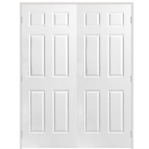 60 Closet Doors Shop Reliabilt Prehung Hollow 6 Panel Interior Door Common 60 In X 80 In Actual