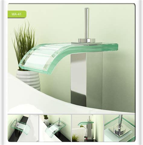 Modern Bathroom Sinks And Faucets Glass Waterfall Bathroom Vessel Sink Faucet 0206a Modern