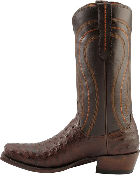 ostrich boots lucchese lucchese handcrafted 1883 western quill ostrich