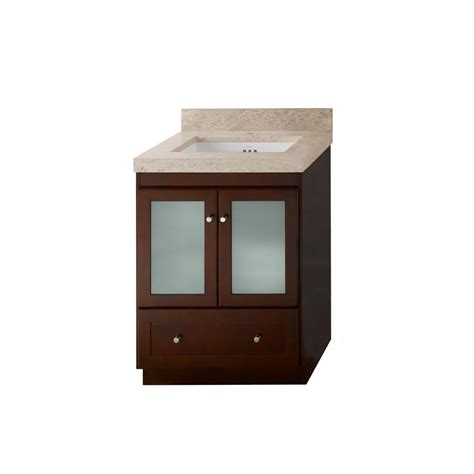 Ronbow Vanity Top by Ronbow Shaker 24 In Vanity In Cherry With Marble