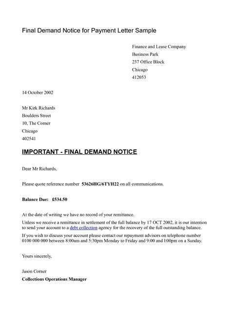 Customer Outstanding Letter Format sle request letter for outstanding payment payment