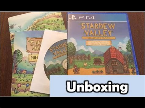 Kaset Ps4 Stardew Valley Collector S Edition stardew valley collector s edition ps4 unboxing