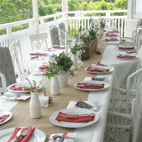 casual table setting ideas simple casual table setting for a summer christmas