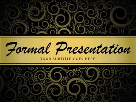 formal powerpoint templates formal presentation a animated powerpoint template from