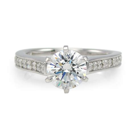 cathedral engagement rings simulated wedding rings