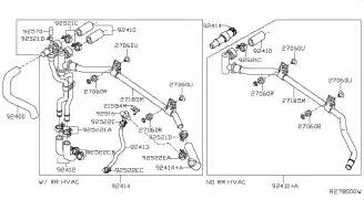 Nissan Pathfinder Exhaust System Diagram Heater Piping For 2005 Nissan Pathfinder Nissan Parts Deal