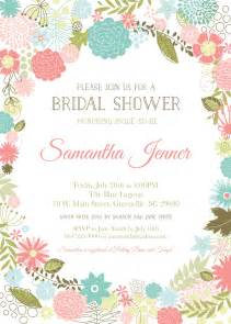 retro modern flowers bridal baby shower invitations floral garden shabby chic rustic set of