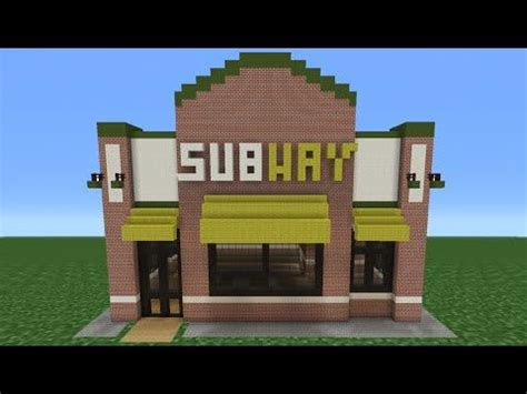 how do you build a house minecraft tutorial how to make a subway restaurant