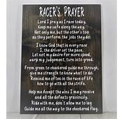 Racers Prayer Racing Decor Wood Sign Dirt Track