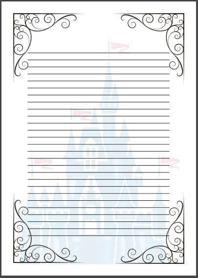 fairy tale writing paper template cinderella disney