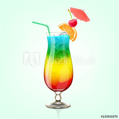 rainbow cocktail rainbow cocktail buy this stock vector and explore