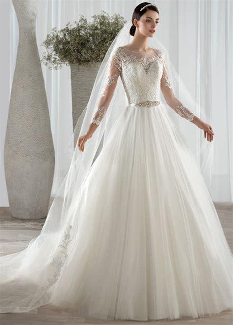 imagenes vestidos de novia manga corta vestido de novia manga larga con velo sala barco natural