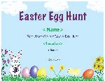 easter egg hunt template free free certificate templates