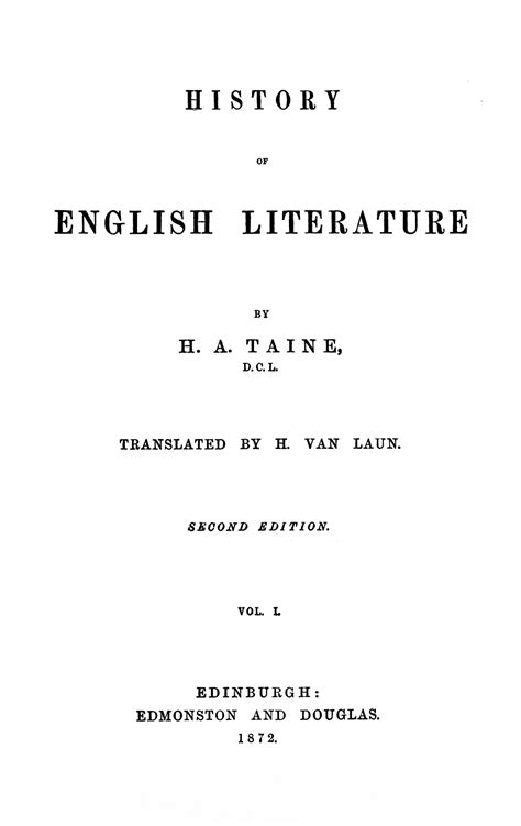 biography of english literature hippolyte taine wiki bio everipedia