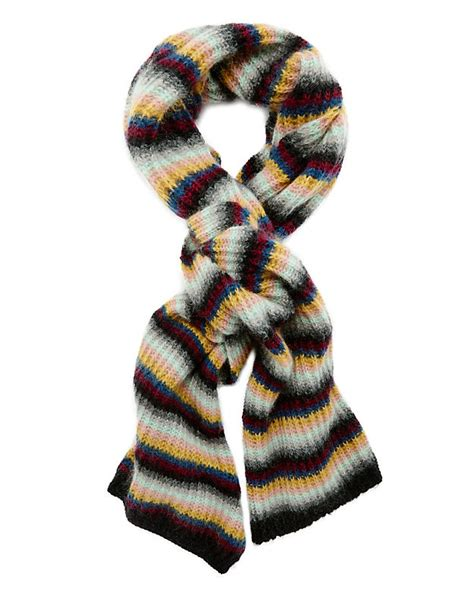 Denisa Dress Ori Mw tak ori stripe knit scarf intermix 174