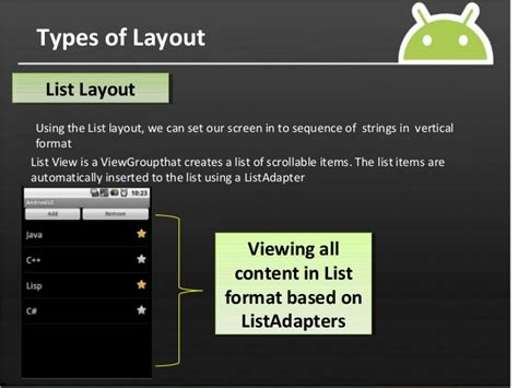android layout kinds android layouts