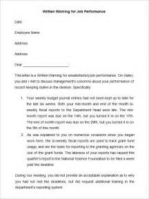 free written warning template 33 hr warning letters free sle exle format