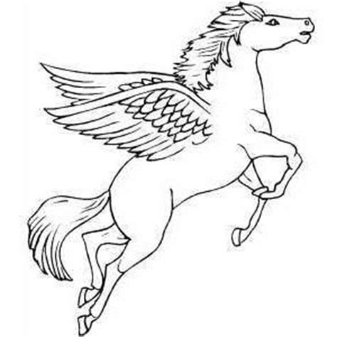coloring pages of flying horse flying pegasus coloring page polyvore coloring pages