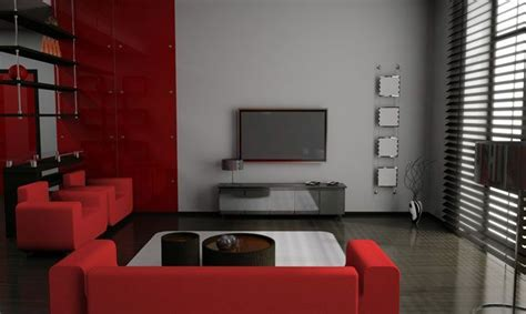 decorar salon en rojo negro  gris rooms homes deco