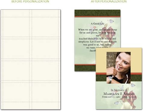 prayer cards for funerals template personalized prayer cards and funeral stationery