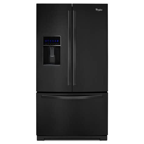 Black Door Refrigerator by Shop Whirlpool 24 7 Cu Ft 3 Door Door Refrigerator