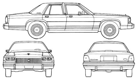 crown victoria coloring page late 70s early 80s american boxy cars