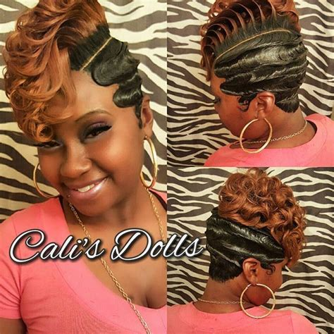 soft look with a 27 piece quick weave fingerwaves quickweave scstylist nohairout sexy