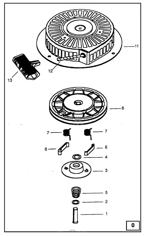 briggs and stratton recoil starter assembly diagram briggs and stratton power products 1150 1 companion