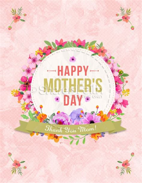 Happy Mother S Day Thank You Mom Flyer Template Template Flyer Templates Thank You Flyer Template Free