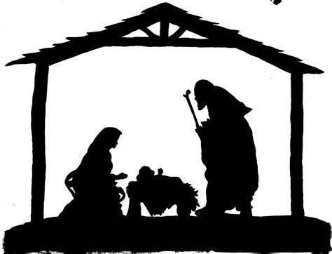nativity silhouette clip free nativity silhouette patterns clipart best