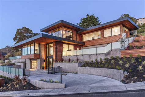 www home dramatic hillside home with modern yet warm feel in marin