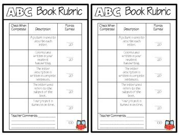 Intermediate Abc Book Project Template By Sarah Tighe Tpt Abc Book Project Template