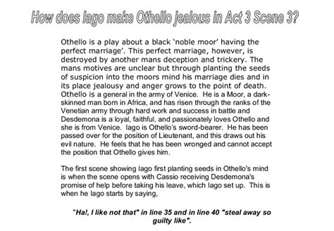 Critical Essay On Othello by College Essays College Application Essays Jealousy In Othello Essay