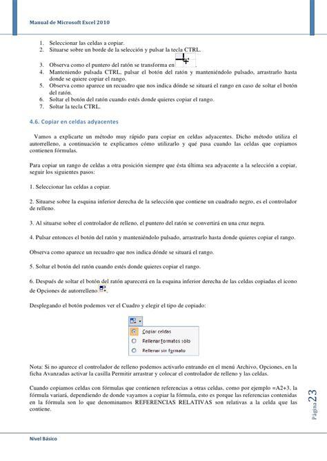 tutorial excel 2010 basico pdf descargar tutorial de excel 2010 gratis en espa 241 ol