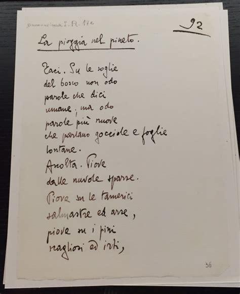 d annunzio la pioggia nel pineto testo la biblioteca centrale di roma a day in rome
