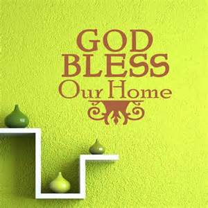 god bless our home wall decor god bless our home text wall stickers christian family design wall decals quotes bedroom