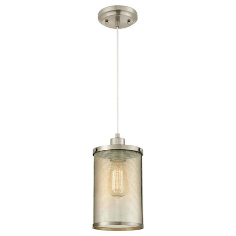 brushed nickel outdoor pendant light westinghouse 1 light brushed nickel mini pendant 6345300
