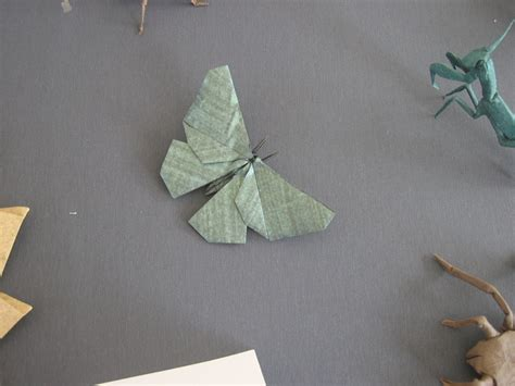 Origami Insects 2 - robert lang display barn owl opus 538 origami usa 2008