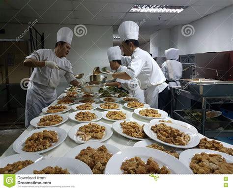 preparation kitchen 11th sept 2016 kitchen crew busy preparing banquet dinner
