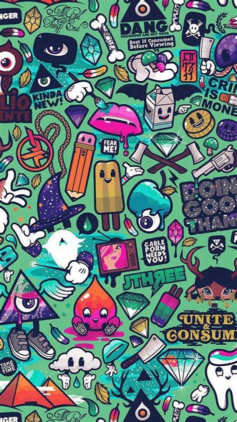 funky pattern iphone wallpaper art work pattern illustration graffiti green iphone 5s