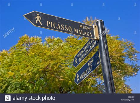 buy house malaga signpost showing direction of picasso museum picasso s house and stock photo royalty
