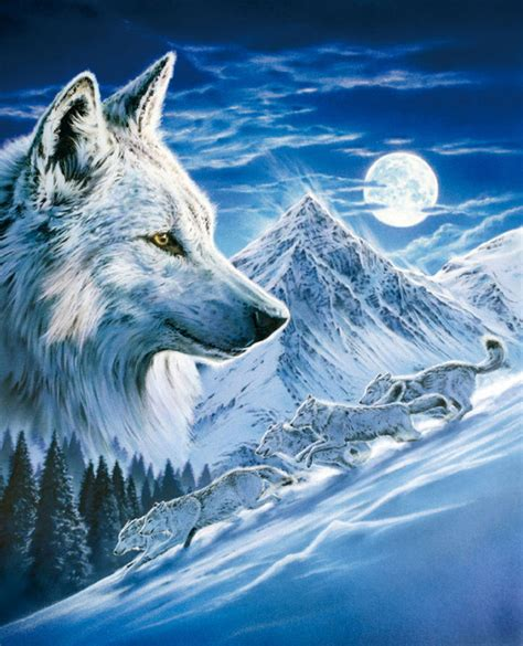 Wolf Howl Mountain Wolves wolf glow in the puzzle puzzlewarehouse