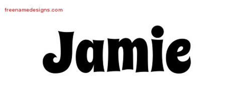 tattoo lettering for jamie jamie archives free name designs